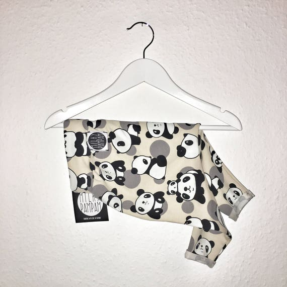 Baby/children Harem pants Origami panda light beige black white