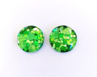 The 'Secret Garden' Glass Glitter Earring Studs