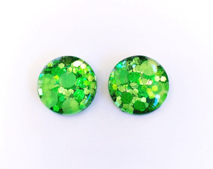 The 'Secret Garden' Glass Glitter Earring Studs