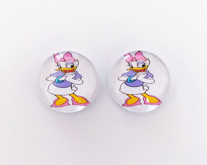 The 'Daisy Duck' Glass Earring Studs