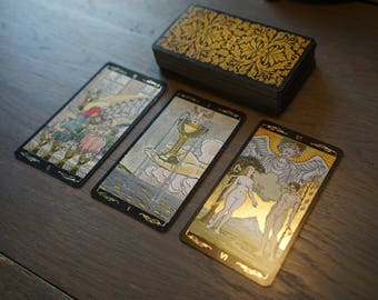 Three-card tarot reading - Golden Universal Tarot, divination, cartomancy, fortune telling, love, advice, career, friends, life, goals