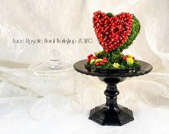 Wild Berries At Heart - A Handmade Preserved flower Wedding Decoration