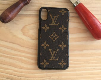 Lv iphone x case ,Valentine's Day Gifts ,  iphone x case  , hand made iphone x case , Iphone x cover , Monogram iphone x case