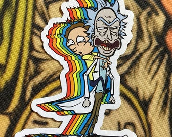 Rick and Morty, Refrigerator Magnet, 3 inches, Strong Magnet, Flat magnet