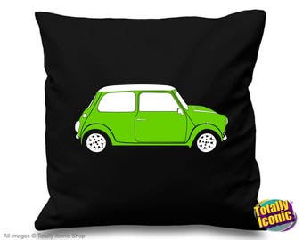 Mini Cooper Green - Pillow Cushion Cover - Classic Mini Car