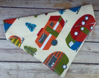 Camper Dog Bandana / Camping Cat Bandana / Trailer Dog Scarf / Outdoor Dog Bandana / Over the Collar