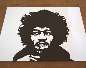 16x12 inch Jimi Hendrix fine art paper print