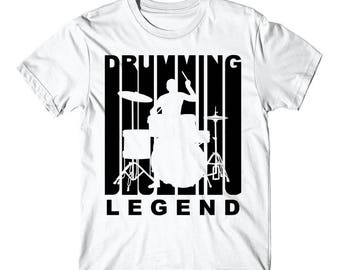 Vintage Style Drumming Legend Retro Drummer T-Shirt