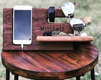 Walnut iPhone Stand