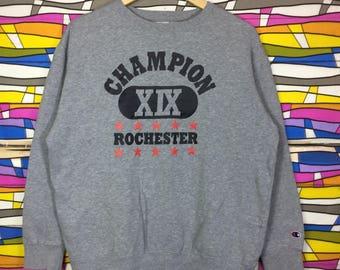 Rare!! Vintage CHAMPION Sweatshirt Big logo Spellout
