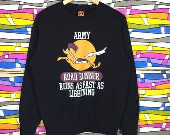 Rare!! Vintage Cartoon LOONEY TUNES Sweatshirt Big Logo