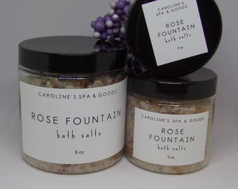 Rose Fountain Bath Salts