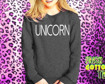 Unicorn- sweatshirt eco cotton blend