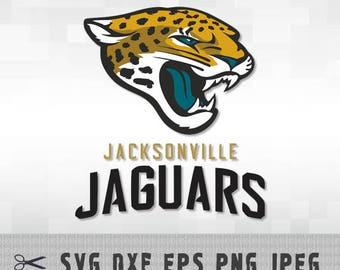 Jacksonville Jaguars Layered SVG Dxf EPS Logo Vector File Silhouette Studio Cameo Cricut Design Template Stencil Vinyl Decal Tshirt Craft