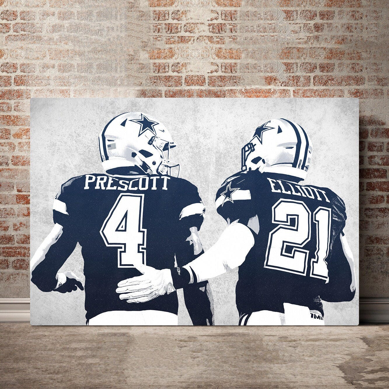 5 Panel Dallas Cowboys Canvas Prints Painting Wall Art Nfl: Dallas Cowboys Canvas Print Dallas Cowboys Art Dallas
