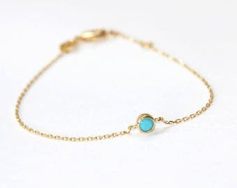 Gold plated turquoise bracelet