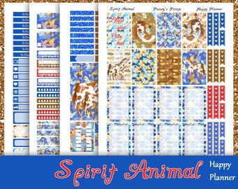 SALE~Spirit Animal~Printable Happy Planner Stickers Weekly Kit For The Classic MAMBI Happy Planner