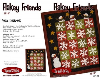 Flakey Friends Quilt Pattern