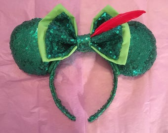 Peter Pan inspired Disney Mouse Ears
