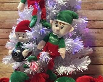 Personalized Elf, Monogrammed Elf, Elf, Boy Elf, Christmas Elf, Santa's Elf, Toy Elf, custom elf, stocking stuffer, shelf elf