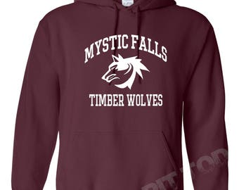 The Vampire Diaries inspired Hoodies - Mystic Falls Salvatore 17 Front And Back.