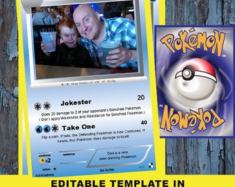 Pokemon, Pokemon card, Father's day, Father's day card,diy fathers day, Kid Father's day card, dad card, Fathers day card, Pikachu,