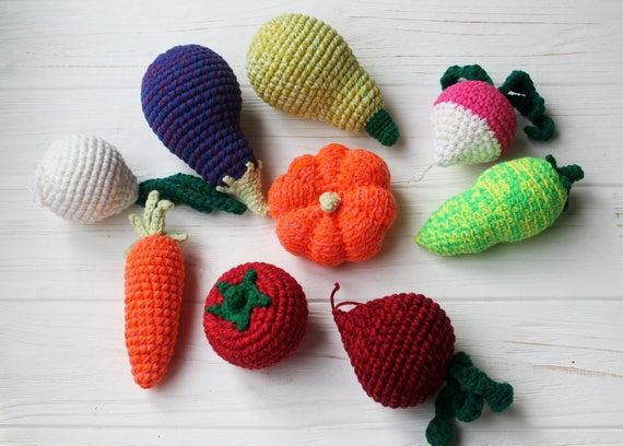 Amigurumi Vegetables : Amigurumi vegetables amigurumi play food crochet food set