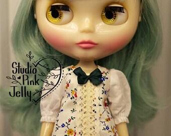Blythe flower pattern puff sleeved dress