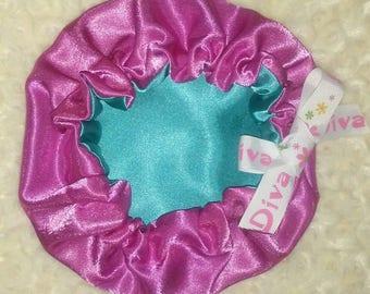 Adjustable Diva Satin Bonnet