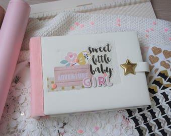 Newborn Photo Album, Baby Girl Photo Album, Baby Scrapbook Album, Baby Girl Memory Book, Baby Girl Keepsake Album, Baby Photo Album