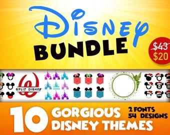 DISNEY svg BUNDLE Minnie Mouse svg Mickey svg files Disney svg files Disney castle svg Disney Font  Dxf Cricut Monogram clipart diy 153