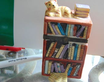 "Large ""book case""  with cats and books 3 dimensional"