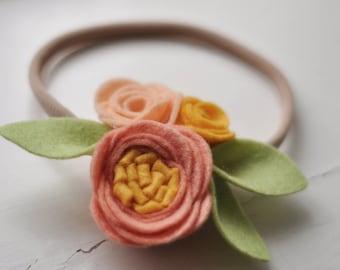 Miss Peach/ Miss Mint springfairy headband