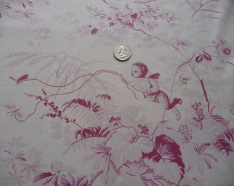 Vintage French fabric cherubs and doves charming French fabric