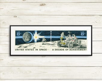 Wall art: moon buggy, earthrise, astronauts, astronaut posters, Apollo Project, moon landing, space travel, space wall art, NASA posters