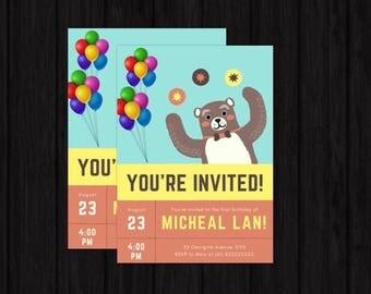 Childrens Birthday Invitation