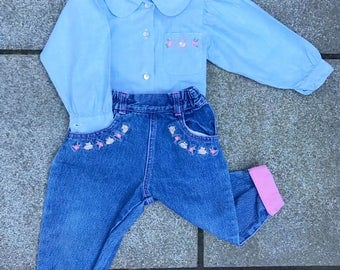 The 90's Denim Bunny Suit