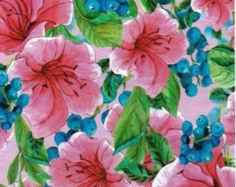 10 - 10x13 Pink Tropical Flowers Designer Poly Mailers Envelopes Custom Bags