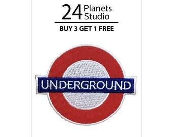 Underground Sign Iron on Patch by 24PlanetsStudio