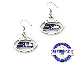 SEATTLE Football EARRINGS - Super CUTE!  +FReE SHiPPiNG & Discounts*