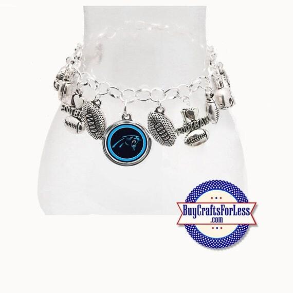 CAROLINA Football CHARM Bracelet, Silver Plated  **FREE U.S. SHiPPiNG**