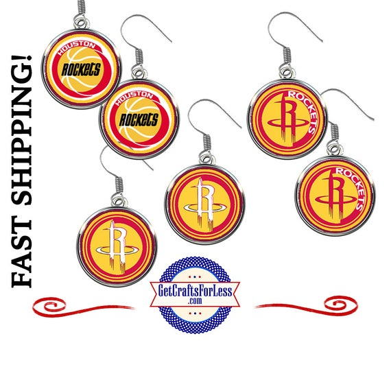HOUSTON Basketball EARRiNGS,, CHooSE from 3 Designs - Super CUTE!  +FREE SHiPPiNG & Discounts*