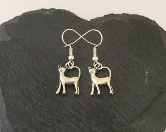 Cat earrings / Cat jewellery / Crazy cat lady / animal jewellery / pet jewellery / animal lover gift