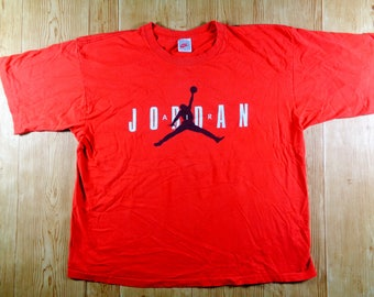 On Sale! Vintage 90s NIKE Air Jordan Jump Man Shirt Large Gray Tag