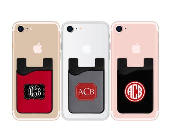 Logo card caddy phone wallet logo wallet photo phone monogram card caddy personalized card caddy name card caddy monogram phone wallet colourmoves Image collections