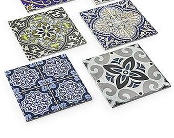 Square ceramic trivet Arasbeque 20X20X1 cm