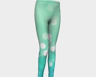 Girls Leggings, Sparkling Water Leggings, Girls Yoga Leggings, Leggings, Girls Clothes, Dance Leggings, Girls Yoga Pants, Gift for Girl