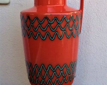 large rare Marzi & Remi vase model 2024-32 West Germany pottery WGP of 50-60s