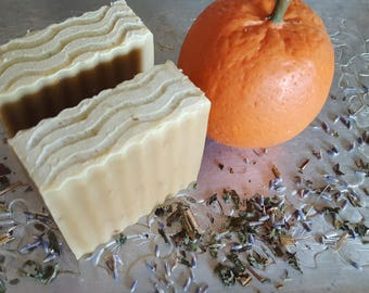 Lavender and Citrus Goat's Milk Soap with Oatmeal and Comfrey