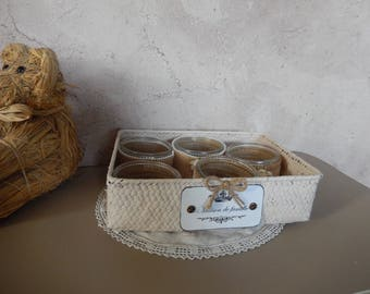 basket with his spirit lanterns retro country chic